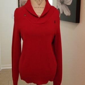 Cozy Winter sweater by Ralph Lauren Red 10-12